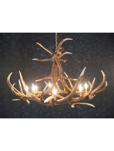 ELK SIX ANTLER CHANDELIER