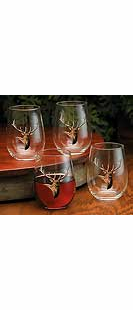 ELK STEMLESS WINE GLASSES-SET/4