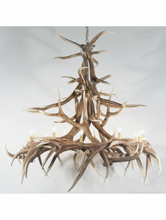 FAUX ANTLER CHANDELIERS
