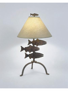 "FISH TABLE LAMP 26""H X 16""W"