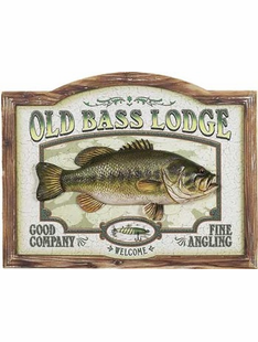 FISHING BASS SIGN