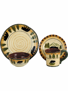 FOREST OF BEARS DINNERWARE SET