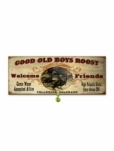 GOOD OLD BOYS ROOST PERSONALIZED SIGN