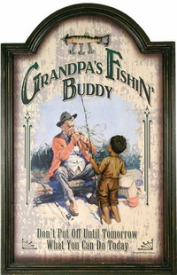 GRANDPAS FISHING BUDDY  SIGN