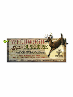 GUEST BUNKHOUSE PERSONALIZED SIGN- DEER