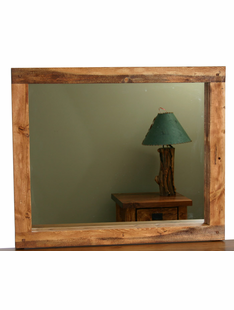 HAND HEWN TIMBER 30 X 36 MIRROR