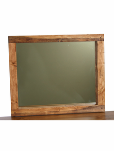 HAND HEWN TIMBER 36 X 48 MIRROR