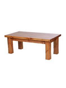 HAND HEWN TIMBER COFFEE TABLE