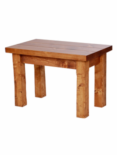 HAND HEWN TIMBER END TABLE