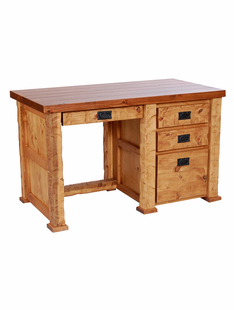 HAND HEWN TIMBER STUDENT DESK