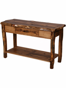 HOMESTEAD WILD EDGE SOFA TABLE (1 DRAWER & SHELF)