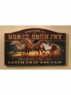 HORSE COUNTRY WOOD SIGN