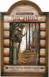 HUNTING ARCHERY DEER SIGN
