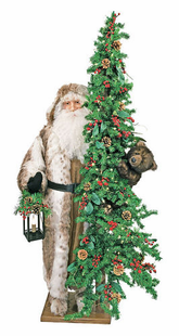 Large Grizzly Greetings Santa