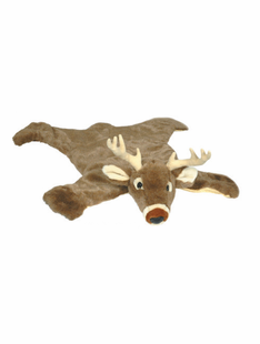"LARGE WHITE TAIL DEER RUG 50""X72"""