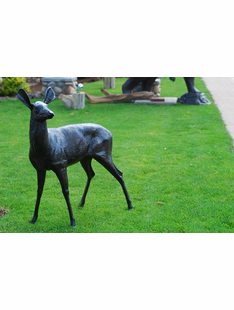 LIFE SIZE DOE METAL SCULTURE
