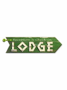 LODGE ARROW PERSONALIZED SIGN