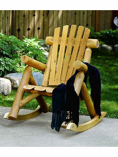 LOG ROCKING CHAIR CEDAR
