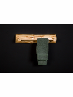 LOG TOWEL RACK 24""
