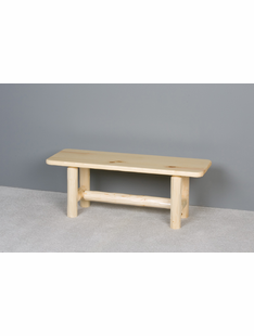 "LOG WOOD SEAT 48"" BENCH"