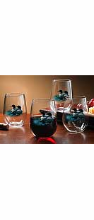 LOONS STEMLESS WINE GLASSES-SET/8