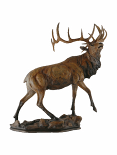 """MAJESTIC"" ELK SCULPTURE"