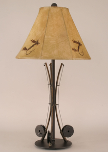 METAL FISHING POLES TABLE LAMP