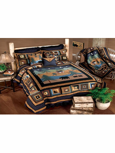 MIDNIGHT BEAR BED SETS TWIN