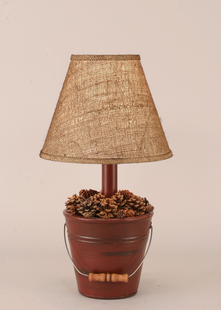 MINI BUCKET OF PINE CONES LAMP