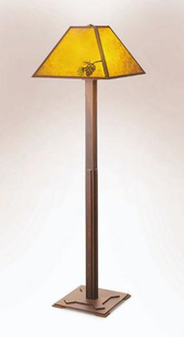 "MISSION PINE FLOOR LAMP-59""H X 19""W"