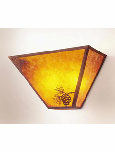 MISSION PINECONE- TAPERED SCONCE