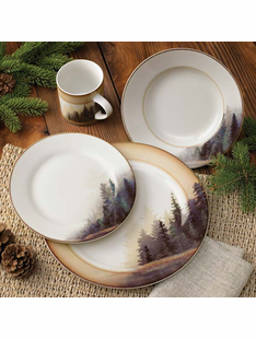 Misty Forest 16 pc. Dinnerware Set