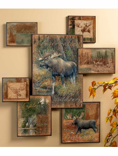 Moose Art Wall Colllage