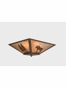 "MOOSE  CEILING DROP MOUNT- 7.5""H X 17"" X 17.5""W"