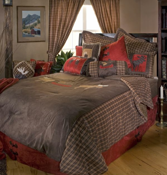 Moose Plaid Bedding