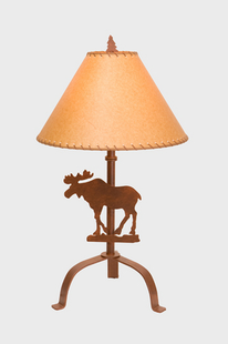 "MOOSE TABLE LAMP 32""H X 19""W"