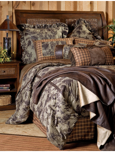 MOSS PINECONE BED SET TWIN