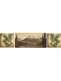Mountain Range and Pines Set of 3 Canvases- Inspirational