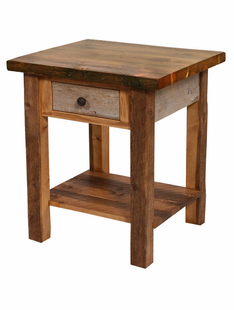 NATURAL BARNWOOD 1 DRAWER NIGHTSTAND