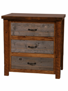 NATURAL BARNWOOD 3 DRAWER CHEST