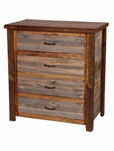NATURAL BARNWOOD 4 DRAWER CHEST