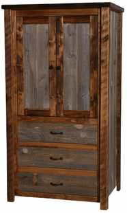 NATURAL BARNWOOD ARMOIRE