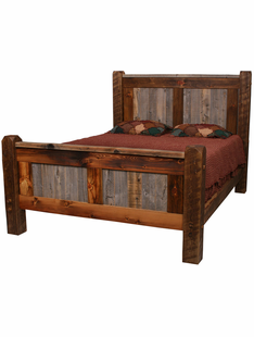 NATURAL BARNWOOD BED (STANDARD PANEL BED)