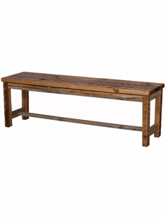NATURAL BARNWOOD BENCH 56""
