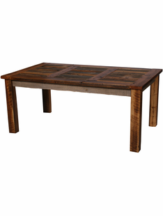 "NATURAL BARNWOOD DINING TABLE 36"" X 72"""
