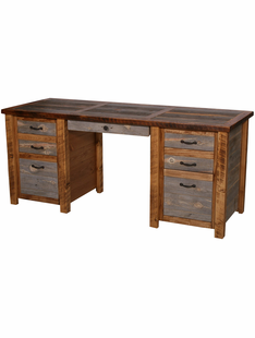 NATURAL BARNWOOD EXECUTIVE DESK