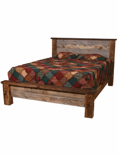NATURAL BARNWOOD PLATFORM BEDS