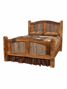 NATURAL BARNWOOD PRAIRIE BED (ARCHED PANEL BED-NEW DESIGN)