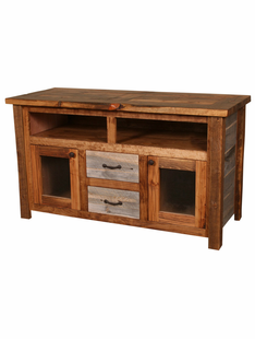 NATURAL BARNWOOD TV CONSOLE