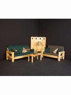 NORTHERN EXPOSURE PINE FUTON LOVESEAT